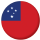 Samoa Country Flag 25mm Pin Button Badge